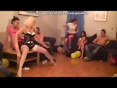 Bimbo Blonde In Candid Stockings Rides Dick