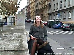 public flashing tits blonde oral european