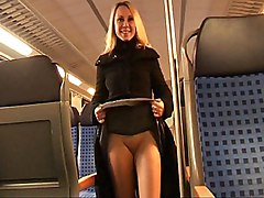 blonde  public  train  car  german  european  dildo  masturbation  piercing  closeup  anal dildo  anal toy  fat cock  big cock  facial  cumshot  amateur sex  amateur