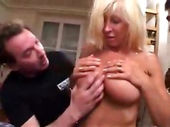 A Whole Bunch Of Guys Do The Blonde Milf