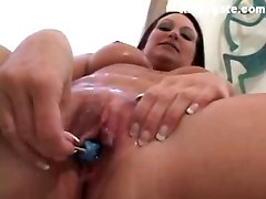 Gina goes kinky and anal with ice cream