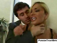 shyla stylez punished work office hardcore rough sex blowjob oral big tits busty fake tits blonde curvy angry fight