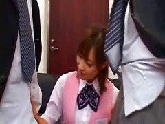 Cute  Female Employees  Punishment
