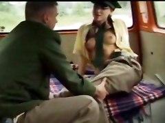 blowjob car sex stockings fetish cum