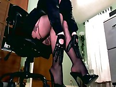 paddle leather sheer legs calves feet ankles heels stiletto gloves femdom domina diva