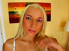 blonde solo teasing masturbation babe dildo toys anal