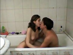 Cute Little Teen Girl Fucked By Brother In The Bath