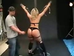 bondage blonde ass panties spanking close up toys rubbing fetish amateur homemade