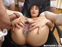 hardcore stockings cumshot Japanese