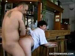 mature granny blowjob bar doggystyle