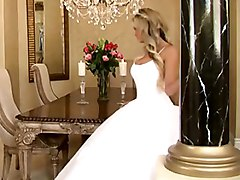 bride  dress  white dress  stylish  decorations  lights  colors  upskirt  hairstyle  blonde  tall  in clothes  beautiful  sofa  beautiful ass  spread legs  milf  from behind  rare