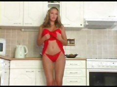 Blonde Strips In Kitchen