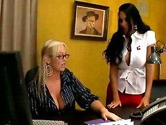 lesbian sex lesbians big tits office sex hot chicks