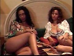 Black and Ebony Busty Lesbians