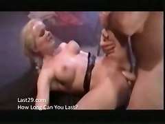 sweet cumshot blonde bitch licking dick insertion