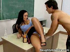 teacher student pussy licking fingering college brunette
