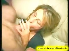 amateur homemade wife glasses fingering masturbation couch blowjob ass licking blonde Pussylicking