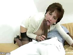 interracial milf ebony fucking blowjob stockings dick sucking