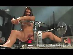 Tori Black fucks machines for the first time