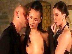 euro hardcore pornstar threesome double blowjob cumshot