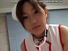 Asian Nurse Cosplay Uniform Petite CreampieCum Asian Petite