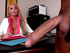 long hair  handjob  mature  office  big cock  blonde  clothes off  scream  from behind  cock ride  grey eyes Taylor Wane  Voodoo