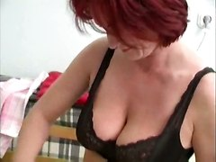 red head lingerie big tits ass masturbation rubbing pussylicking solo voyeur hidden spy milf foot panties blowjob face fuck cumshot facial riding tight anal doggystyle reality