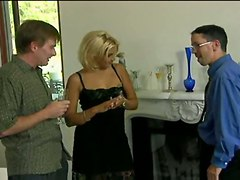 anal blonde small tits threesome mmf
