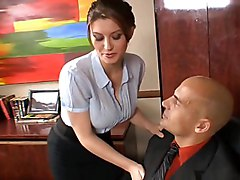 busty  redhead  white  plumb  in clothes  blowjob  secretary  office sex  sex at work  big tits  clothes off  white  stockings  big ass  from behind  desk  tits cumshot  cumshot Sara Stone  Ben English