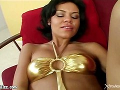 POV small boobs blowjob cum shaved brunette