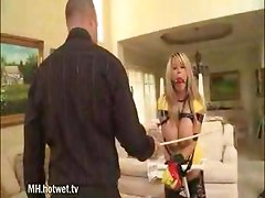 Milf Blonde Tied up while her boss teaches her some lesson