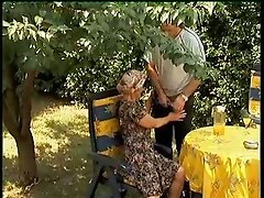 hardcore granny blowjob cum outdoor sex