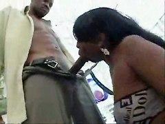 ebony blowjob big tits cumshot milf