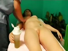 massage fingering pussy fucking dick oil