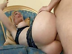lingerie anal hardcore blowjob stockings milf blonde doggystyle
