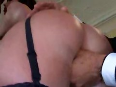 heels lingerie panties brunette big tits teasing ass oil pussylicking fingering blowjob handjob deepthroat gagging doggystyle riding face fuck cumshot european