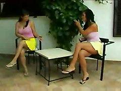 lesbian big tits hot carpet munching boops