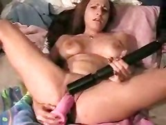Brunette Pornstar Big Tits Natural Toys Tight Teasing Dildo Solo Masturbation Orgasm Squirting Fetish Wet squirt