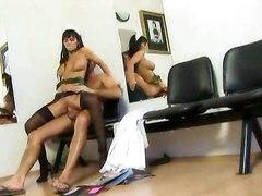 big cock hardcore blowjob stockings nurse