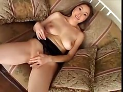 Asian Chick Smoking And Riding On Long Black Dick