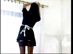 stockings maid brunette tight ass panties european teasing kissing blowjob handjob pussylicking lingerie big tits reality bathroom cumshot facial swallow pornstar deepthroat