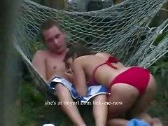 cumshot hardcore outdoor bikini blowjob brunette amateur pussyfucking realamateur voyeur