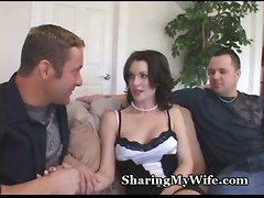 brunette wife fantasy swinger hotwife cuckold sharing hubby librarian bull