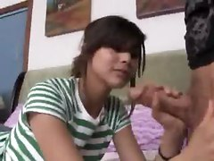 amateur couple handjob teen