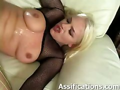  anal hardcore blonde blowjob fishnets rough sex