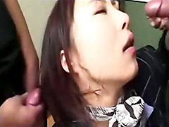 japanese asian flight attendant stewardess masturbation beaver hairy gangbang blowjob oral hardcore sex cumshot jizz