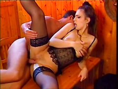 Brunettes Hardcore Stockings