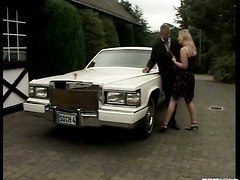 blonde blowjob facial doggy car sex