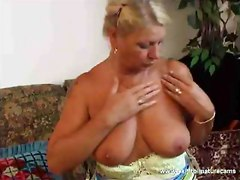 Blond Grandmother  MY selfmade cam movie  Toying my pussy with a big dildo  Like my pussy  Wanna cam with me