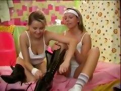 high heel boots lesbian dildo pussy licking teen g